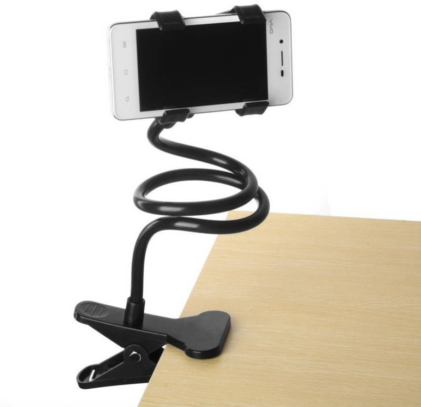 SP Universal Flexible 360 Degree Snake Style Stand for Apple iPhone/Samsung/Android Mobiles Long Lazy Stand - White Mobile Holder