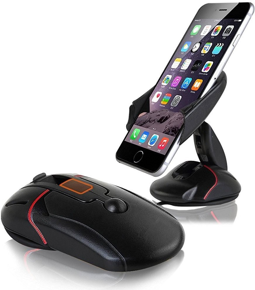 REALIKE Universal Compact Windshield Dashboard Desktop Car Stand Mount Cradles, Mouse Shape Mobile Holder