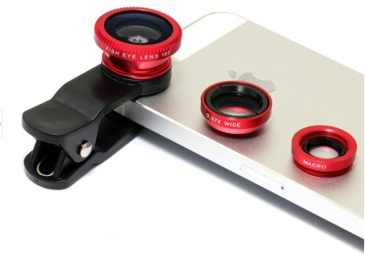 Link+ Universal 3 in 1 Clip On Camera Lens Kit For Micromax Canvas Xpress 4G Mobile Phone Lens