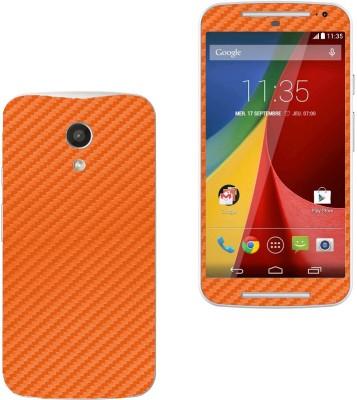 STICK_ME Carbon Fiber MOTO G 2ND GEN Mobile Skin(Orange)