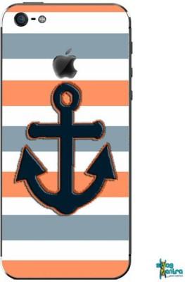 Swagmantra Black Anchor mobile skin for Apple Iphone 5 Apple Iphone 5 Mobile Skin