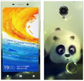 Theskinmantra Panda mazed SN Gionee E7 Mobile Skin(Multicolor)