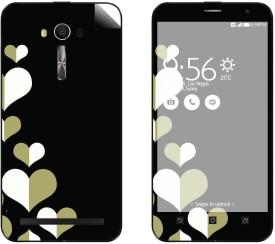 Skintice SKIN53071 Asus ZenFone 2 Laser Ze500KL Mobile Skin(Black)