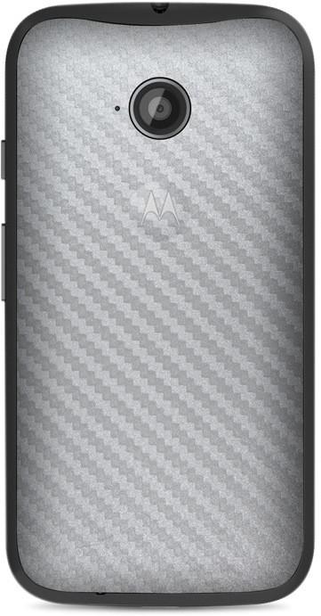 Skinnova Full Srcf Moto E 2nd Gen Mobile Skin(Silver)