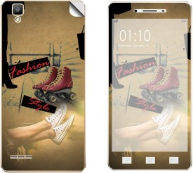 Skintice SKIN53751 Oppo F1 Mobile Skin(Beige)