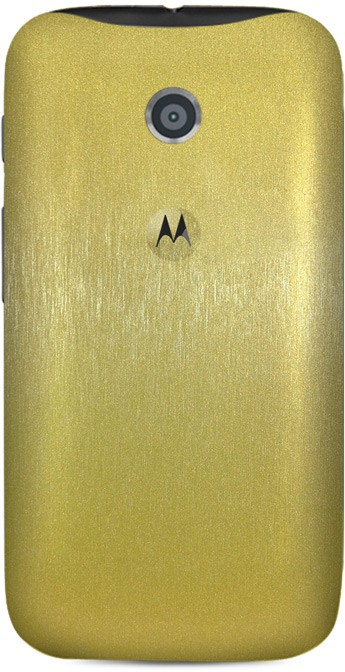 Skinnova Full Brushed Motorola Moto E Mobile Skin(Gold)