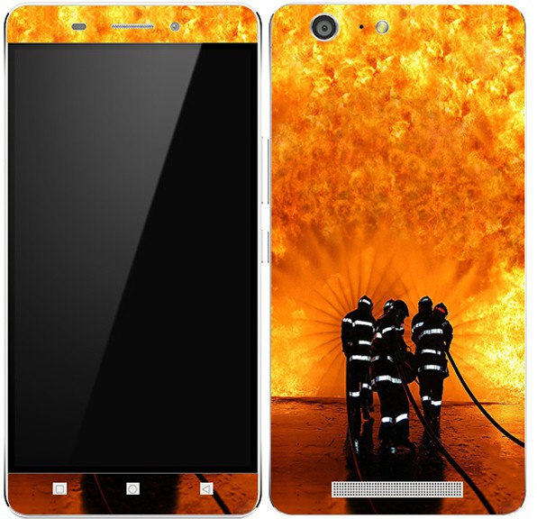 Theskinmantra Obstructing the fire NIN Gionee M5 Mobile Skin(Multicolor)