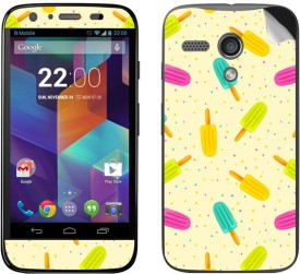 Theskinmantra Candy colours DEX Motorola Moto G 1st Genration Mobile Skin(Multicolor)
