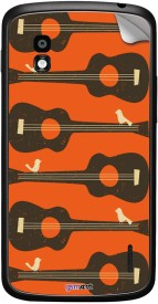 Gsmkart Nxs4 - Bird On Guitar Orange LG Nexus 4 Mobile Skin