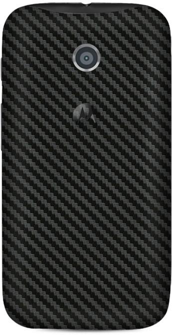 Skinnova Full Carbon Fiber Motorola Moto E Mobile Skin(Black)