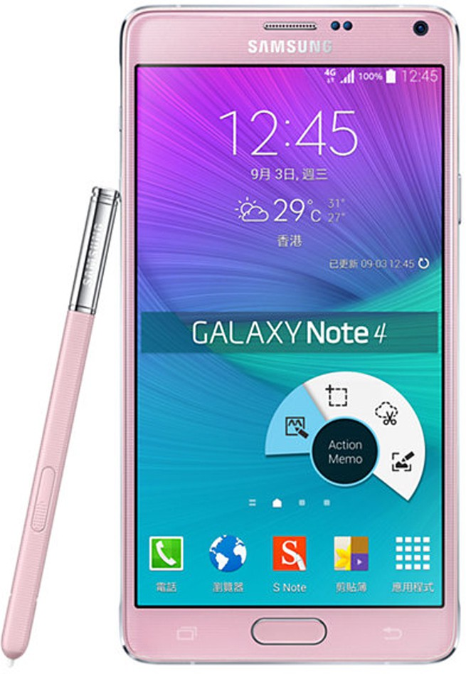 SAMSUNG Galaxy Note 4 Single Sim - Pink (Pink, 32 GB)(3 GB RAM)