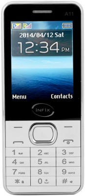 Infix A-11 Dual Sim Multimedia 2.4 Inches (White, 256 MB)
