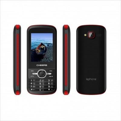 Cheers 4sim Sleek7 (Four Sim Mobile Phone) (Black+Red, )