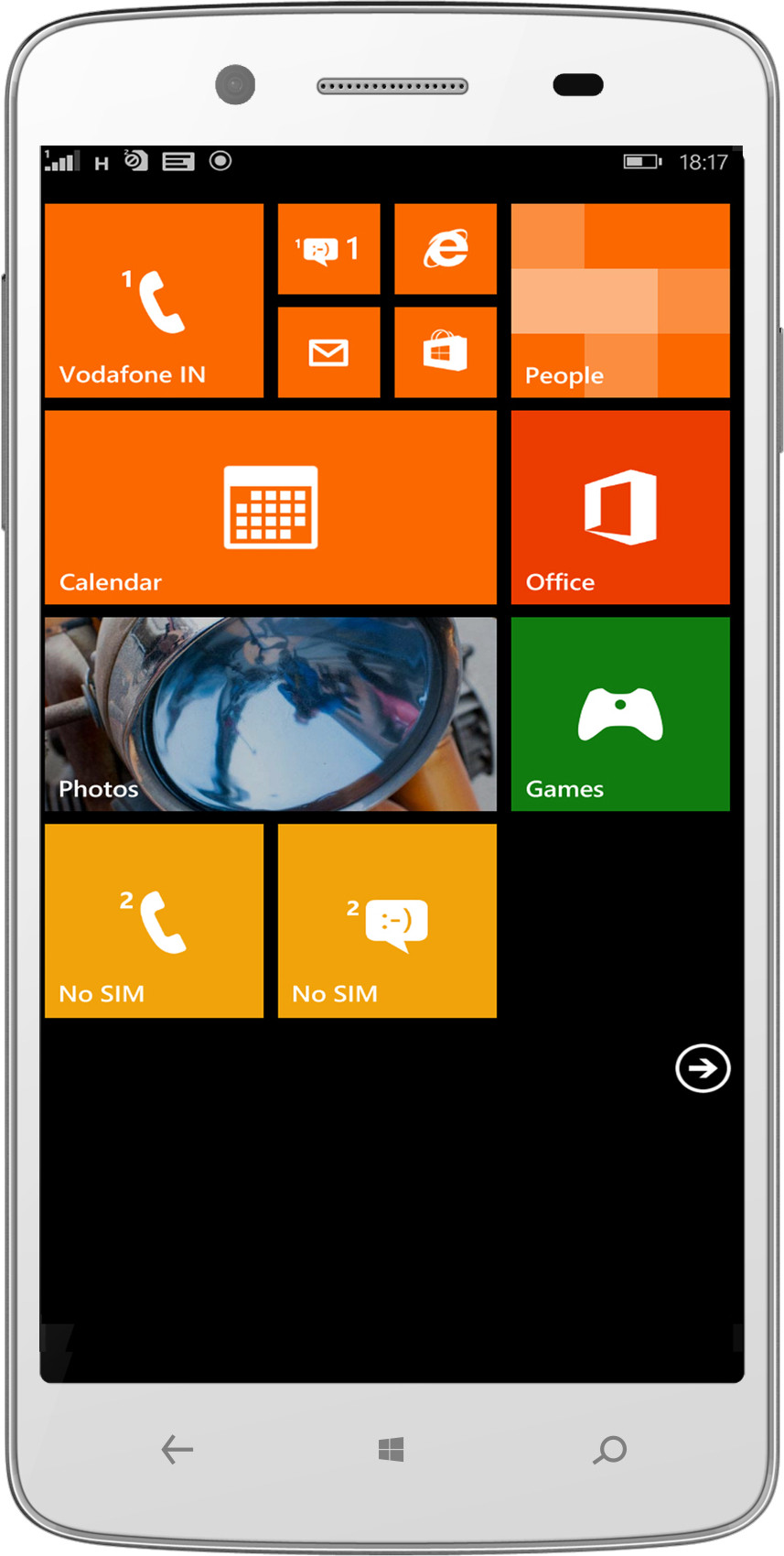 Micromax Canvas Win (1GB RAM, 8GB)