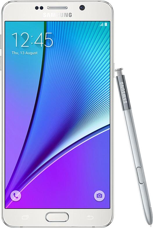 SAMSUNG Galaxy Note 5 32GB Single Sim - White (White, 32 GB)(4 GB RAM)