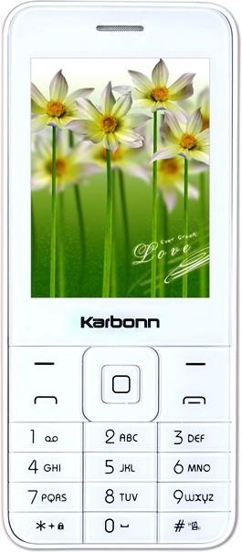 Karbonn K-Phone 1(White + Champagne) image