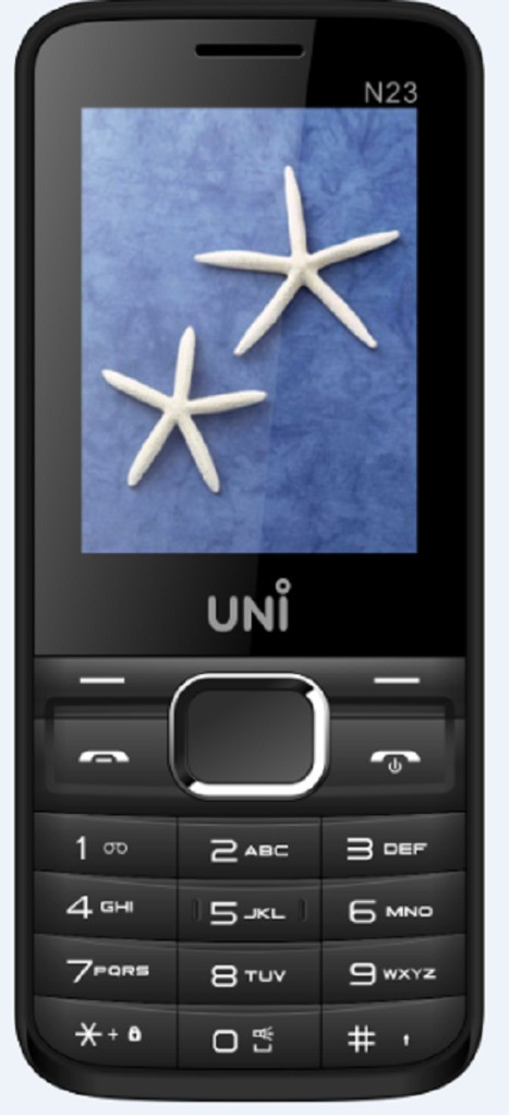 UNI 2.4 Inch Dual Sim Mobile(White, Black)