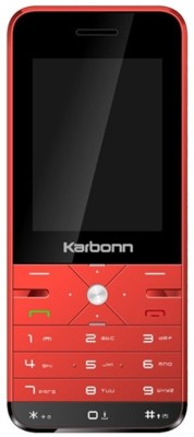 Karbonn K PHONE 9 (Red Black, 1 MB)