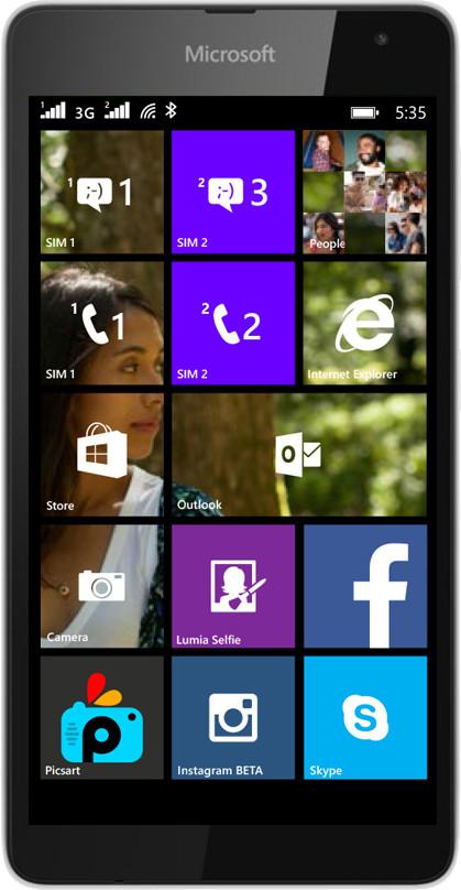 Microsoft Lumia 535 DS (White, 8 GB)(1 GB RAM)
