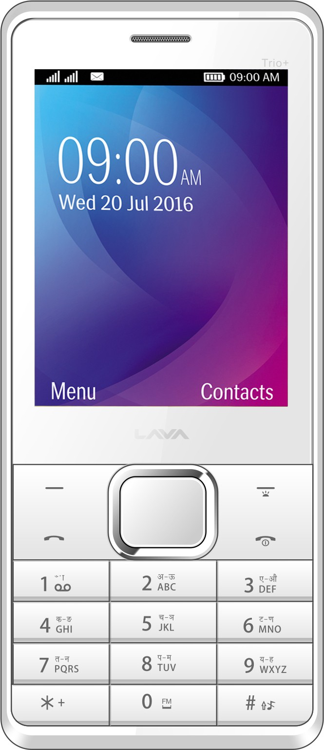 Lava KKT Trio Plus(White Silver)