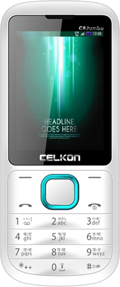 Celkon C8 Jumbo(White & Blue)