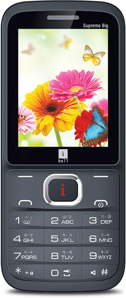 iBall Supremo Big 2.4D Dual Sim(Black, Brown)