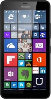 Microsoft Lumia 640 XL (Black, 8 GB)(1 GB RAM) at flipkart