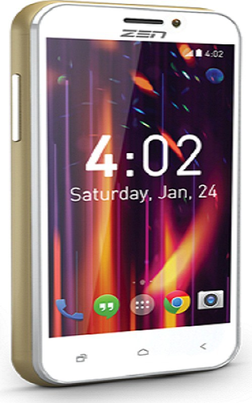 Zen Ultraphone (Grey, Champange, 4 GB)(512 MB RAM)