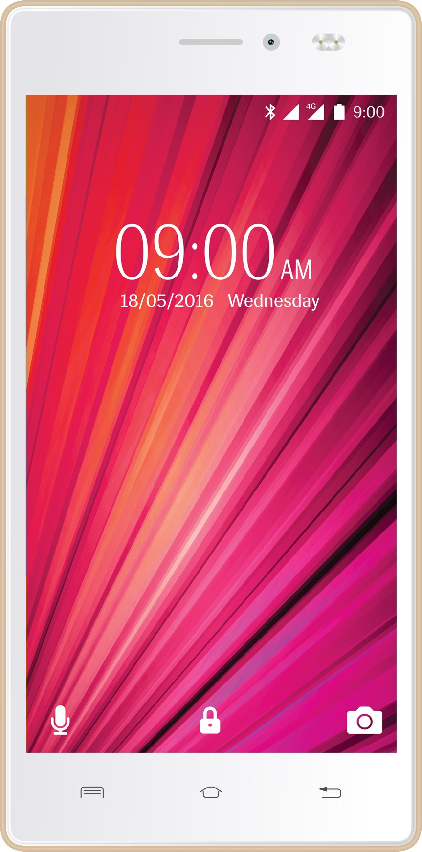 Lava X17 4G with VoLTE (White & Gold, 8 GB)(1 GB RAM)
