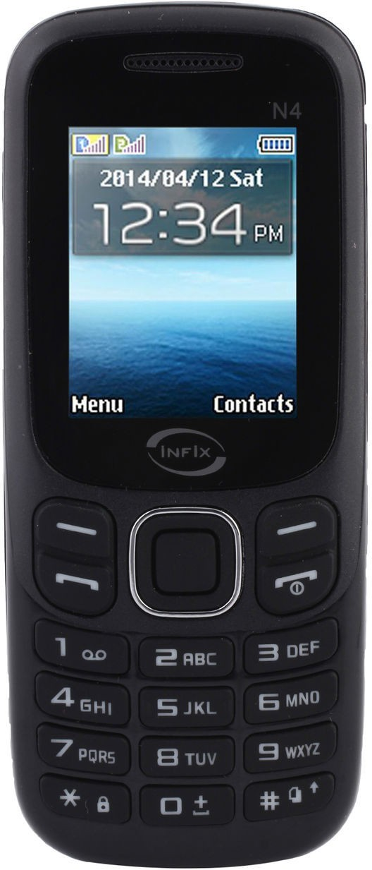 Infix N-4 Dual Sim Multimedia 2.4 Inches(Black)