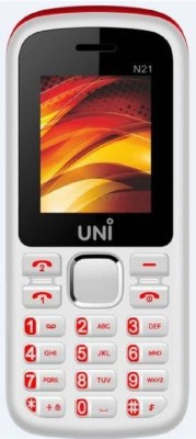 UNI 1.8 Inch Dual Sim Mobile (White, Red, 64 MB)