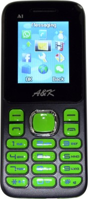 A&K Bar Phone A 1(Black, Green)