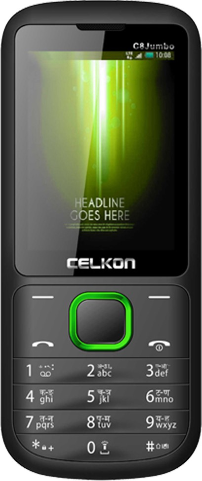 Celkon C8 Jumbo(Black & Green)