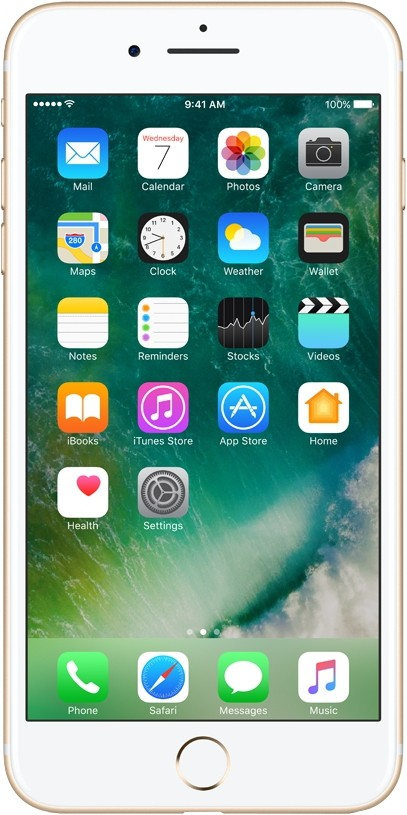 View Apple iPhone 7 Plus (Gold, 128 GB) Mobile Price Online(Apple)