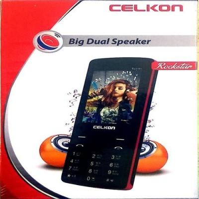 Celkon Rockstar Big dual Speaker Black (Black, 256 MB)