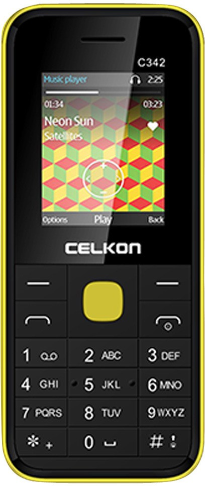 Celkon Dual Sim - Black & Yellow