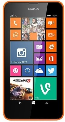 Nokia Lumia 630 Dual Sim (Bright Orange, 8 GB)