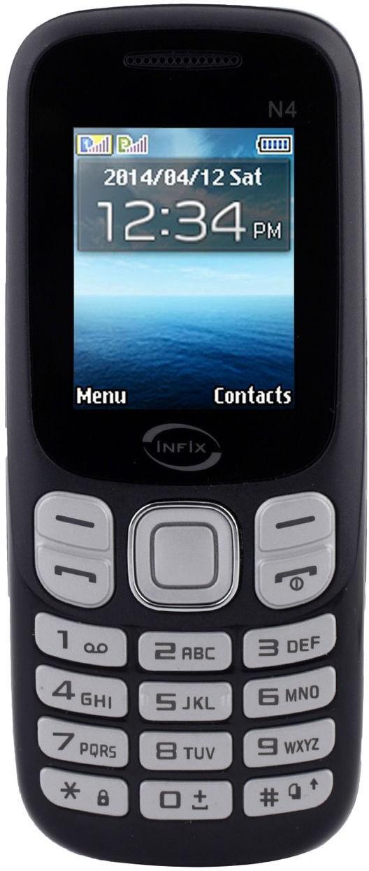 Infix N-4 Dual Sim Multimedia 2.4 Inches(Blue)