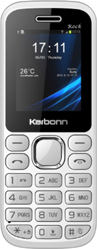 Karbonn K1 Rock(White and Silver)