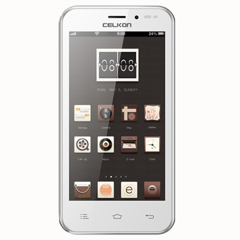Celkon Millennia (White,Gold, 4 GB)(512 MB RAM)