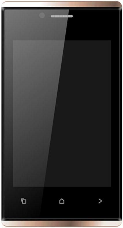 Karbonn A202 Dual Sim - Black & Gold (White, Gold, 512 MB)(256 MB RAM)