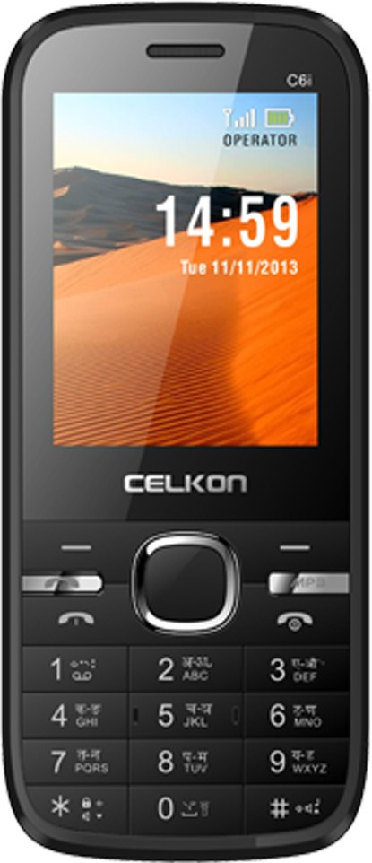 Celkon C6i(Black & Orange)