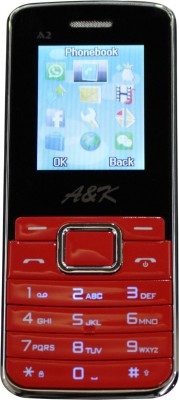 A&K Bar Phone A 2 (Red, Black, 32 KB)