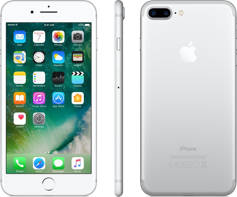 View Apple iPhone 7 Plus (Silver, 128 GB) Mobile Price Online(Apple)