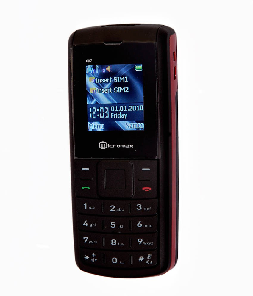 Micromax X117(Red Black)