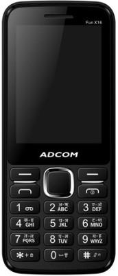 Adcom X16 (Fun) Dual Sim Mobile-Black (Black, 32 MB)