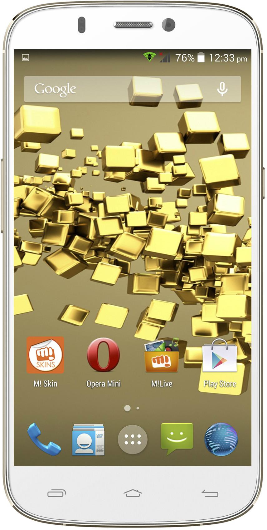 Micromax Canvas Gold A300 (White Gold, 26 GB)(2 GB RAM)