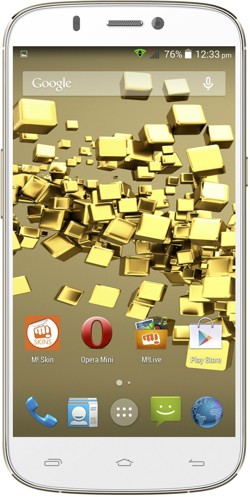 Micromax Canvas Gold A300 (White Gold, 26 GB)(2 GB RAM)