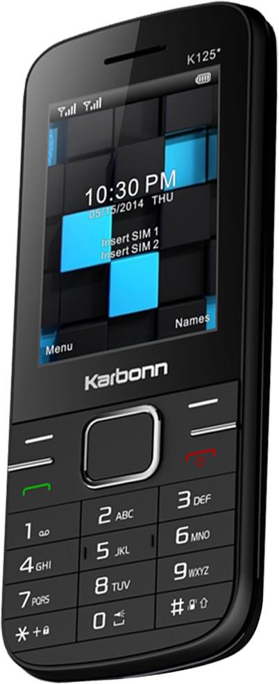 Karbonn K125 Star Dual Sim - Black(Black)