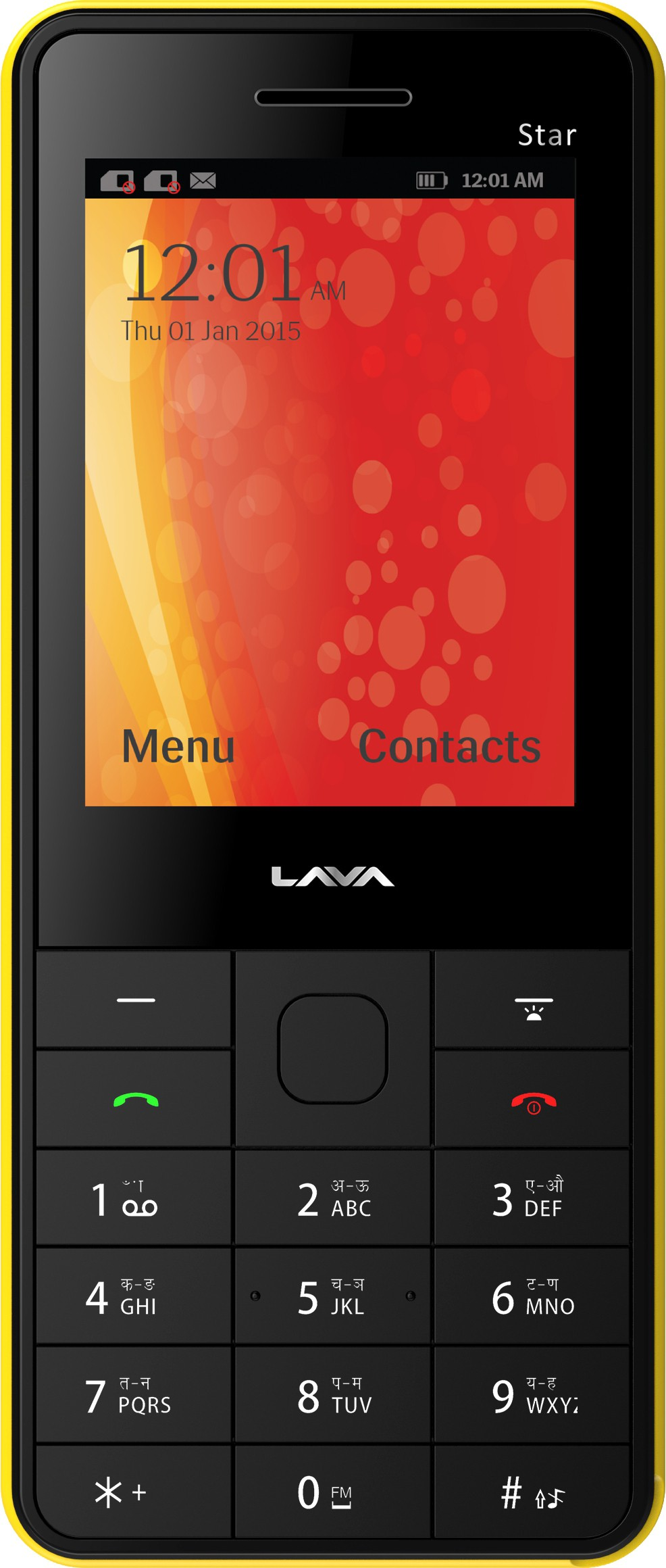 Lava KKT Star(Black & Yellow)